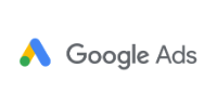 The Google Ads logo showing the 2-legged triangle with yellow line and green circle on theleft and the right leg all blue