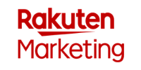 The Rakuten Marketing logo showing the 2 words written one above the other in red characters