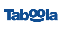 The taboola logo with the letters written in blue