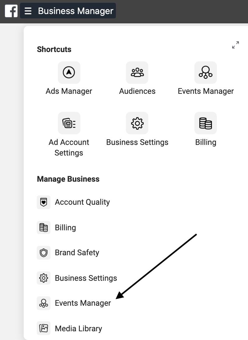 screenshot of facebook to run retargeting ads