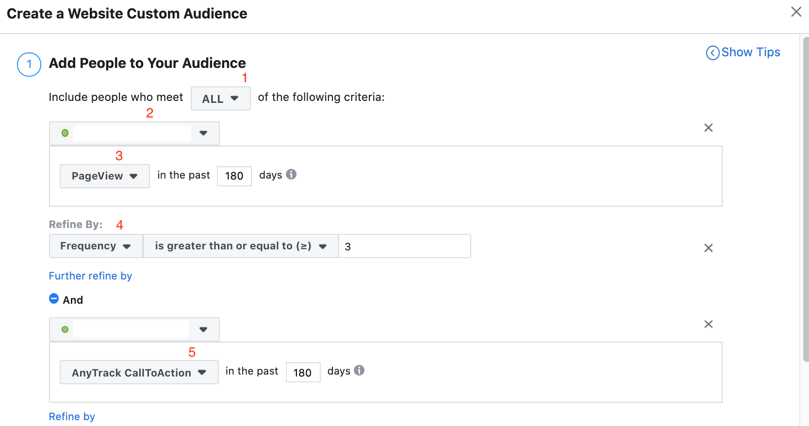 screenshot of how to run facebook retargeting ads