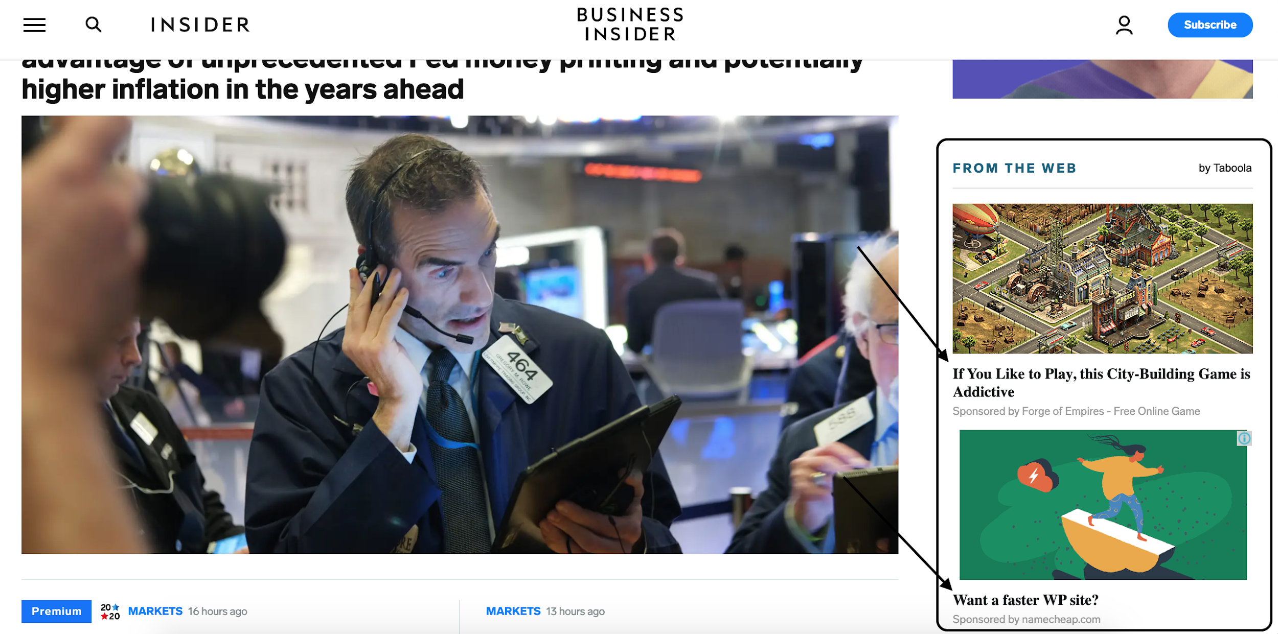 example of native ads on business insider