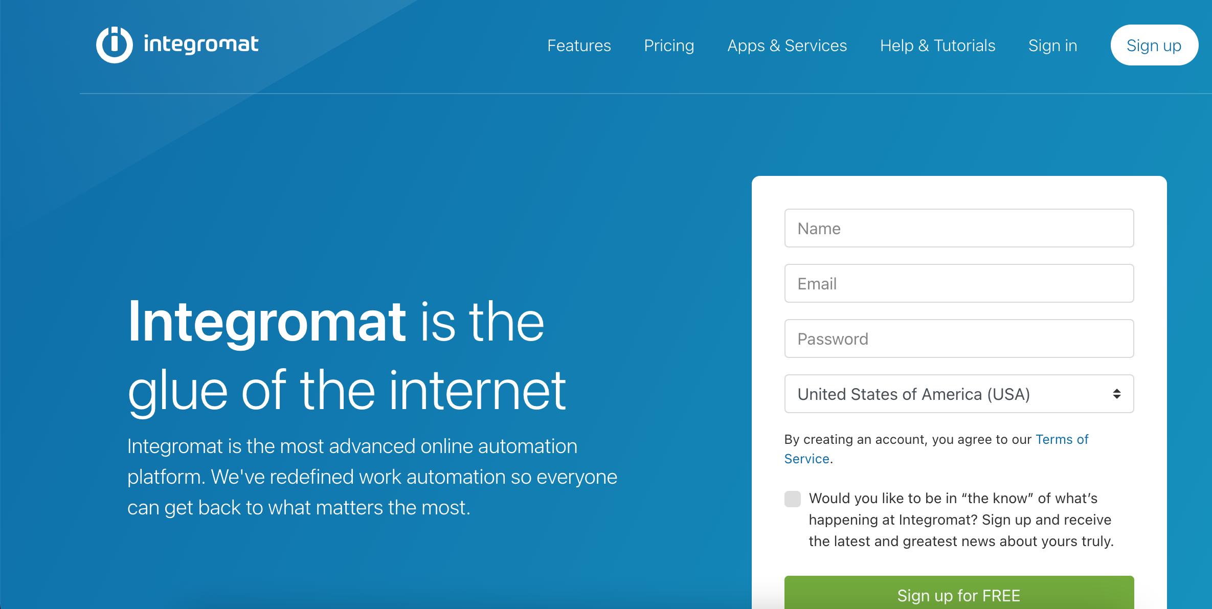 integromat essential affiliate marketing tool